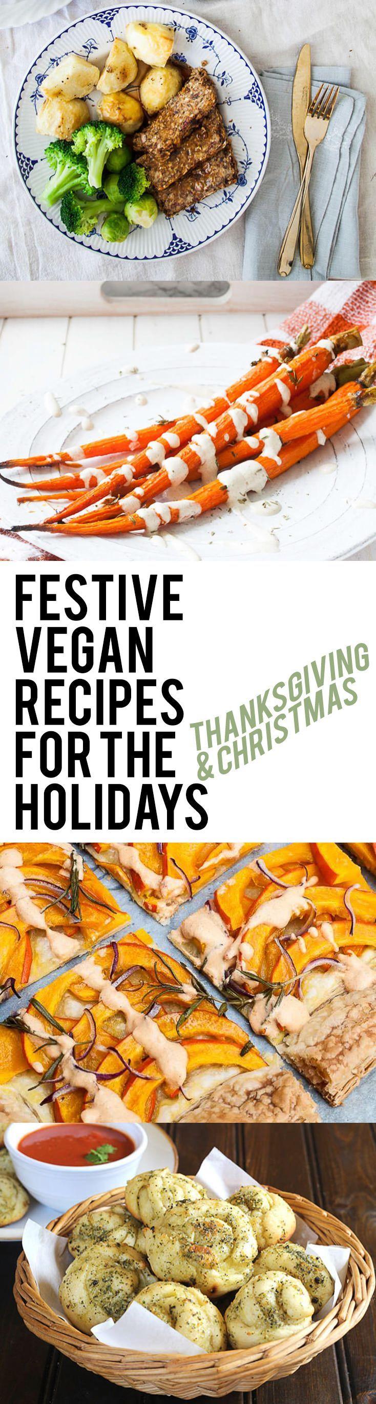Festive Vegan Recipes for the Holidays (Thanksgiving & Christmas) | http://ElephantasticVegan.com