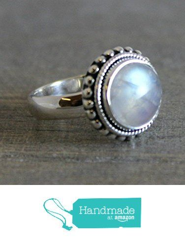 11mm Round Cabochon Moonstone Sterling Silver Ring, size 9 from Sophia Rose Jewellery https://www.amazon.com/dp/B01M0193T5/ref=hnd_sw_r_pi_dp_yHJ.xb0NFFPJN #handmadeatamazon