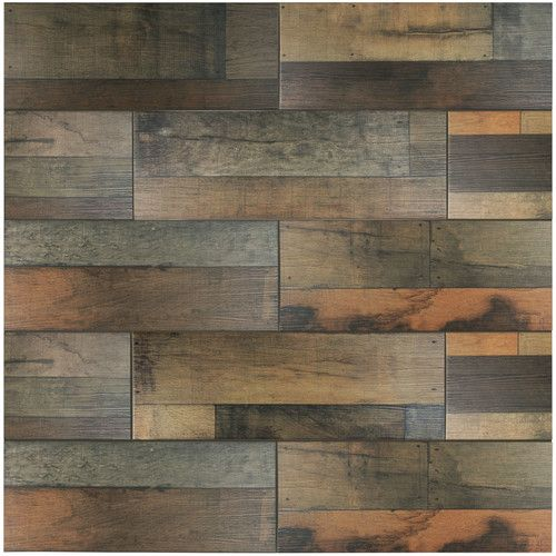 "Found it at Wayfair - Lena 7.88"" x 23.63"" Ceramic Wood Tile in Mix"