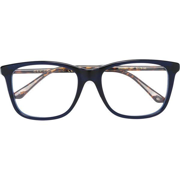 Gucci Eyewear tortoiseshell frame glasses (915 BRL) ❤ liked on Polyvore featuring accessories, eyewear, eyeglasses, blue, gucci glasses, unisex glasses, gucci eye glasses, blue glasses and gucci eyeglasses