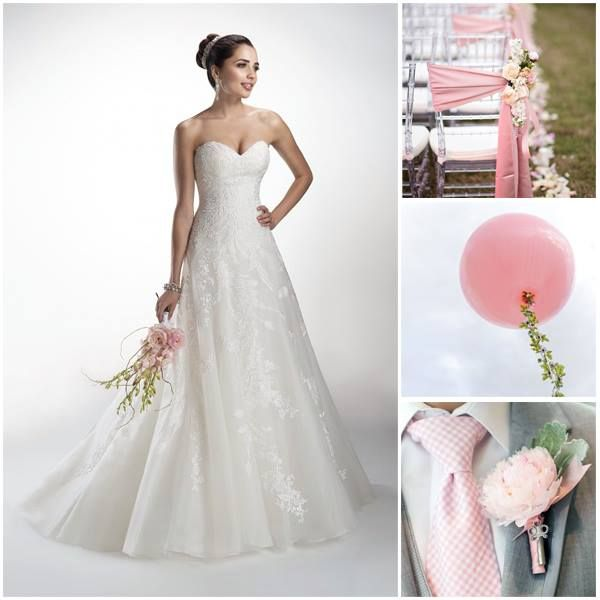 Soft pink wedding theme www.honeymoonshop.nl