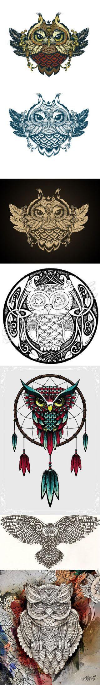 Графика. Совушка-сова. Owl Zentangle Doodle