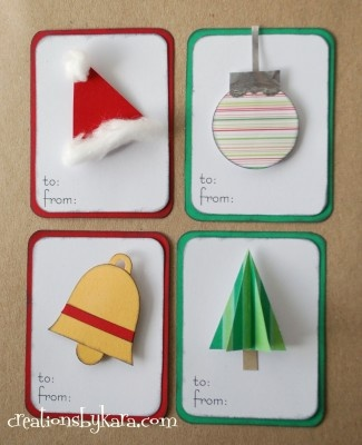 Christmas Gift Tags - I can never find cute ones.  These look easy to make - fun rainy day craft project.