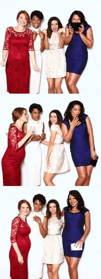 Sarah Drew (April Kepner), Kelly McCreary (Maggie Pierce), Caterina Scorsone…