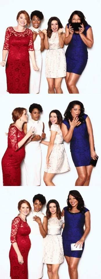 Sarah Drew (April Kepner), Kelly McCreary (Maggie Pierce), Caterina Scorsone…