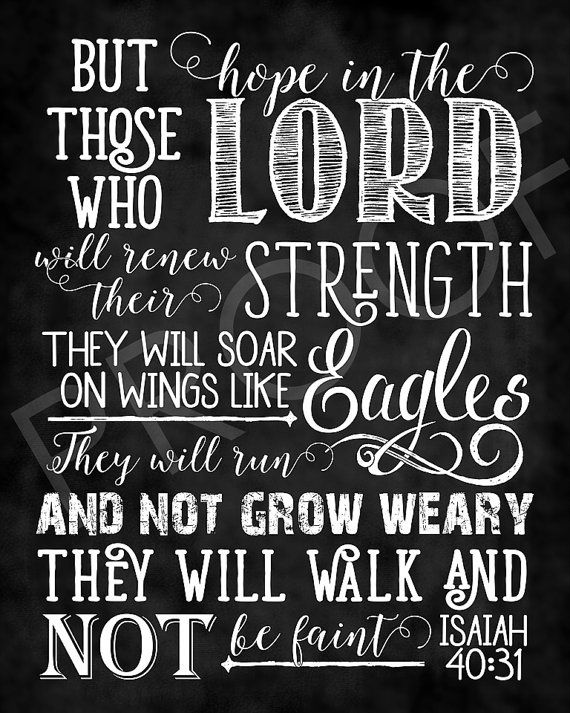 Scripture Art  Isaiah 40:30 NIV  by ToSuchAsTheseDesigns on Etsy