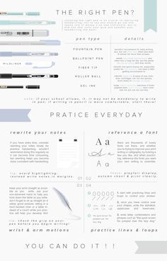 360° how to practice worrying stays with having a good pen... Then lots of practice