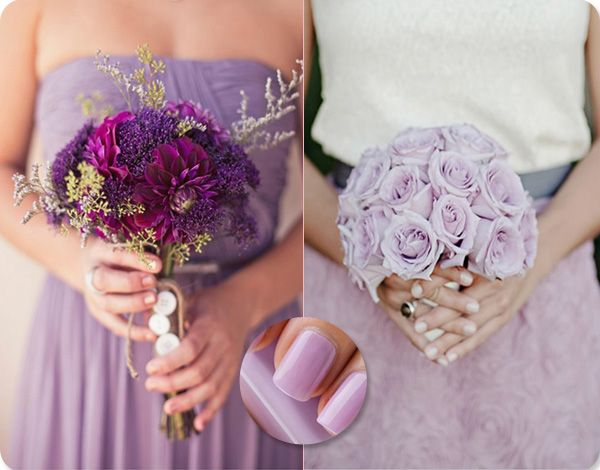 beach wedding bridal party in lilac and purple - Google Search