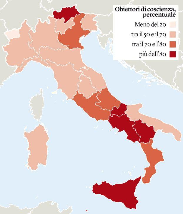 Rifiutare un aborto è un limite alla libertà delle donne. Ecco la mappa dei medici obiettori in Italia