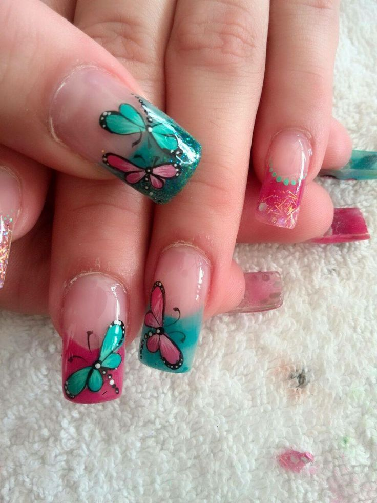 Uñas de mariposa