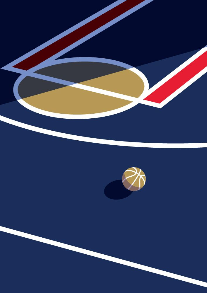 New Orleans Pelicans Basketball Court Printable Downloadable