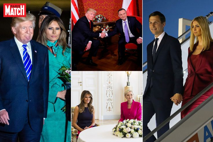Donald Trump est arrivé en Pologne pour une visite officielle avant de s'envoler vers l'Allemagne pour assister au G20. Il est venu avec son épouse Me...