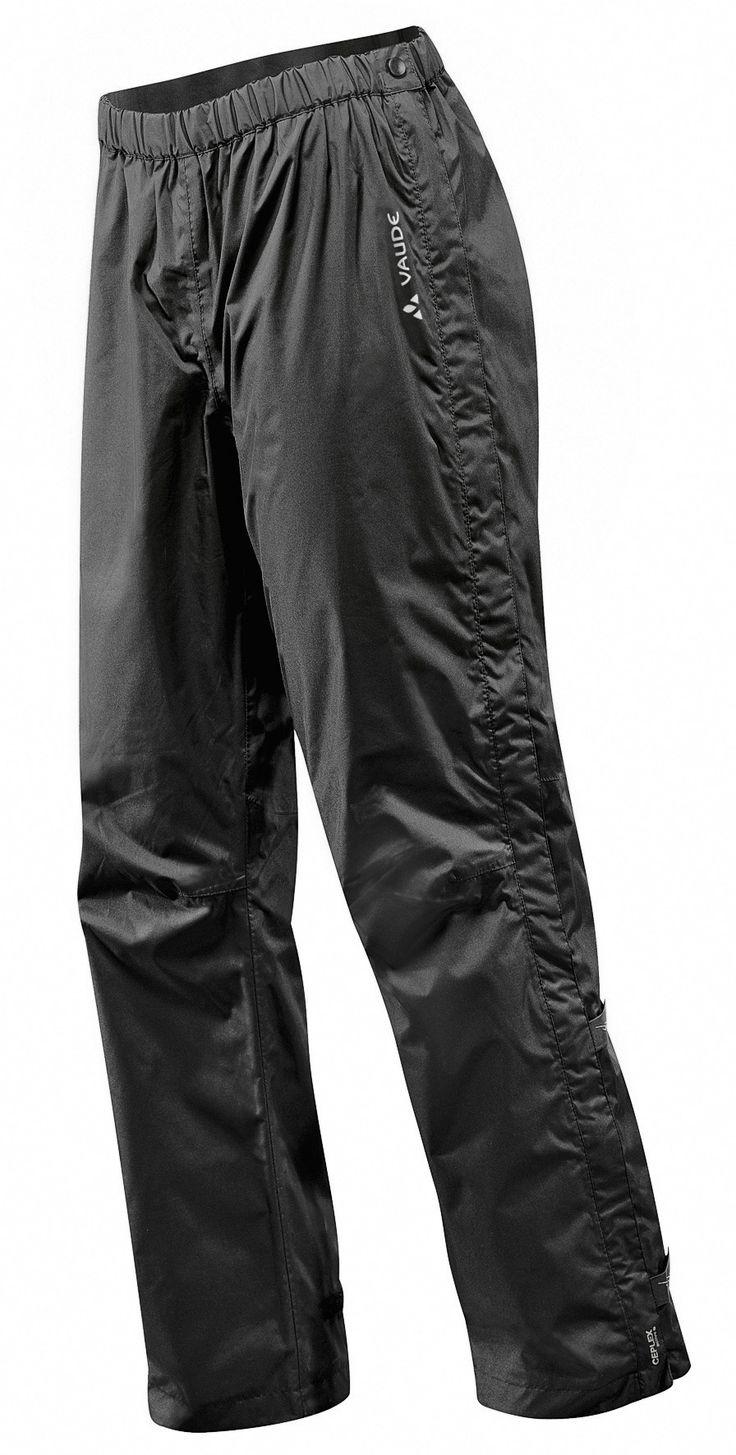 Pantalon de pluie pour le vélo # étanche à l'eau et au vent, respirant # zips latéraux, avec doublure en filet # à la fabrication écologique et équitable