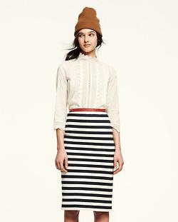stripes: Moffatt Fall, Fashion, Style, Lauren Moffatt, Clothing, Stripes Skirts, Fall 2012, Pencil Skirts, Striped Skirts
