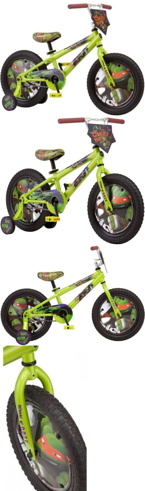 Training Wheels 177839: New 16 Tmnt Boys Kids Bike With Training Wheels, Face Plate And Tube Graphics -> BUY IT NOW ONLY: $81.99 on eBay!