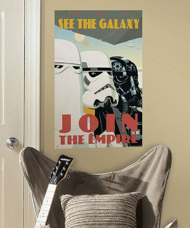 Star Wars Propaganda poster wall decal: Star Wars Wall Decals, Giant Decal, Wars Join, Boys, Zulily Zulilyfinds, Star Wars Decals, Wars Zulilyfinds