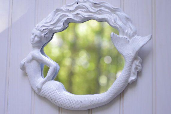 <3 Mermaid <3Nurseries Decor, Bathroom Mirrors, Shore House, Mermaid Bathroom, Beach Cottages, Beach House Decor, Mermaid Mirrors, Mermaid Nurseries, Mirrors Mirrors