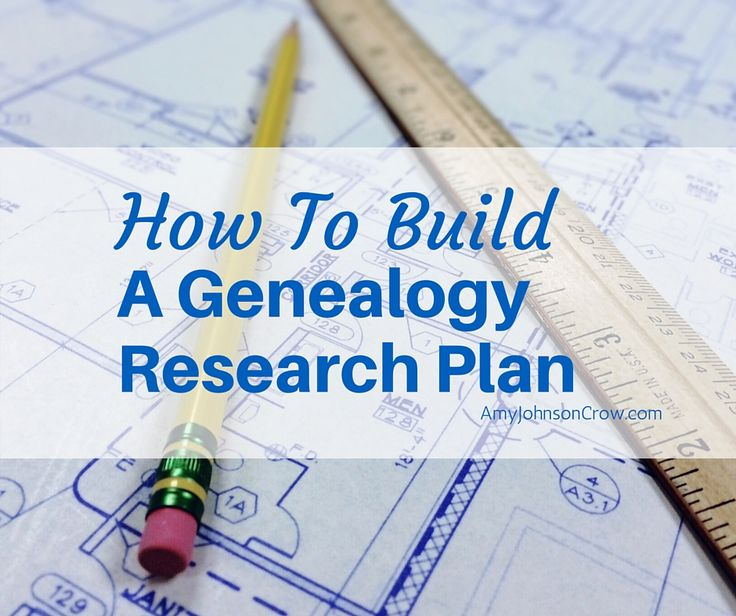 How to Build a Genealogy Research Plan. A research plan is more than a to-do…