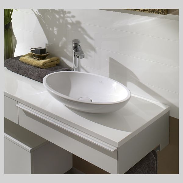 515101R1 Villeroy & Boch  V&B Loop & Friends Toppmontert servant 585x380 mm, uten overløp, Ceramic Plus