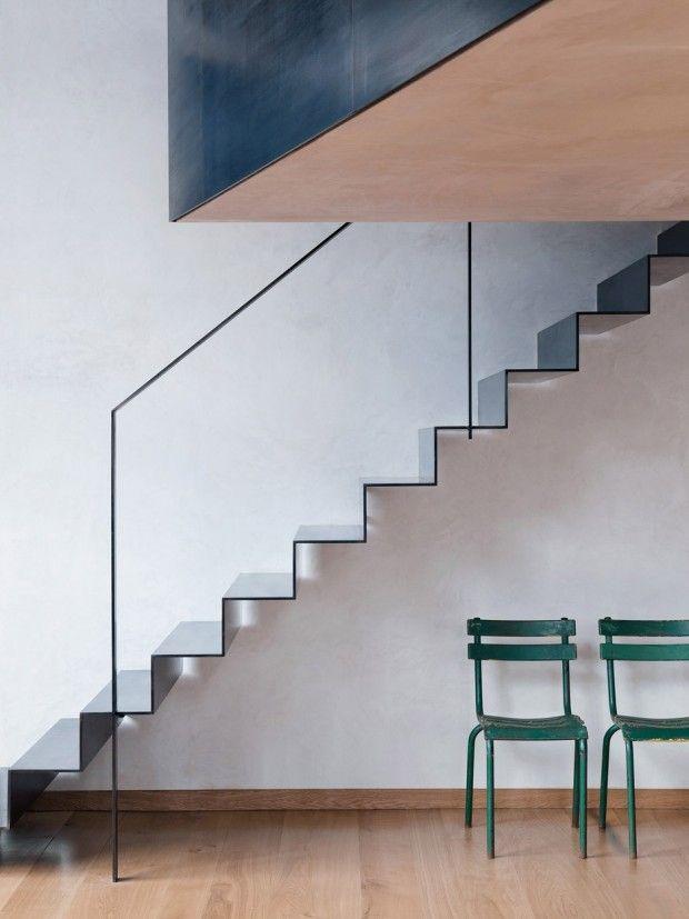 Sadie Snelson Architects a transformé un entrepôt à l'Est de Londres en un espace vie et de travail pour un photographe. En plus des pièces ordinaires, l'e