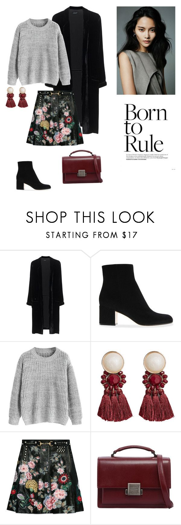 """""""04/10"""" by dorey on Polyvore featuring Jadicted, MANGO, Gucci and Yves Saint Laurent"""