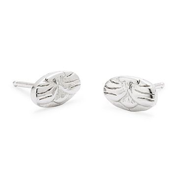 Look what I found at UncommonGoods: Silver Cat Stud Earrings for $70.00