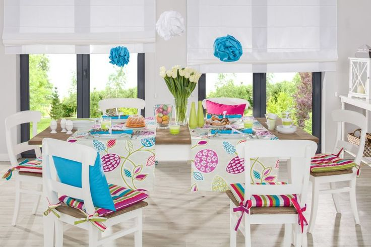 Ester Inspirations| Wielkanocne inspiracje  #chairs #diningroom #spring #colorful #dekoria #table #positive #interior #home #decoration #furniture