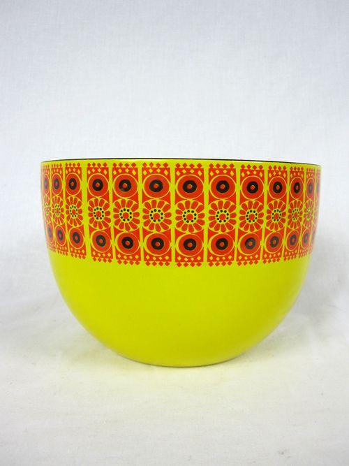 Vintage Finel Finland Enameled Bowl
