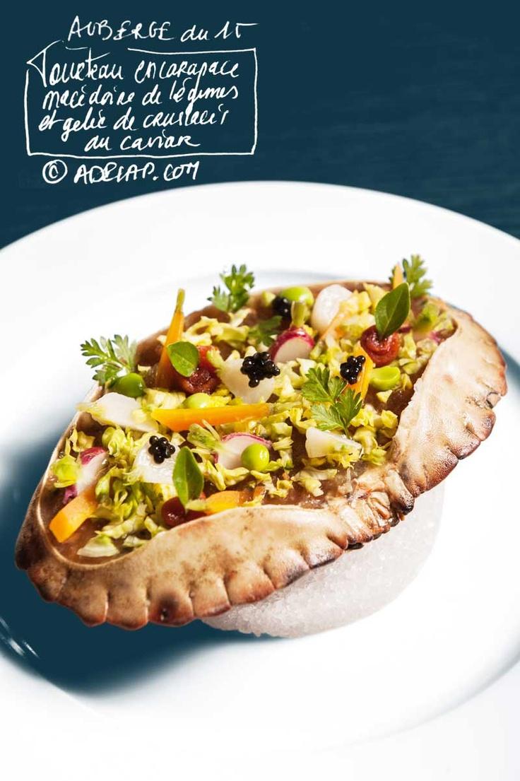 Gastronomie :: La nouvelle carte de l'Auberge du 15 du chef Nicolas Castelet. les entrées