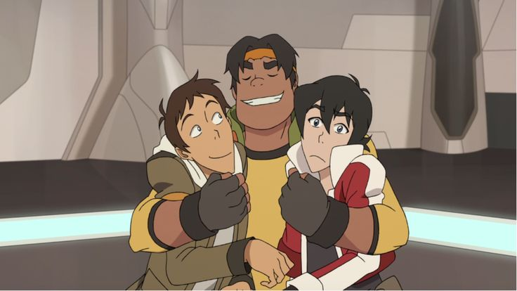 Hunk Gives Lance And Keith A Tight And Loving Hug From