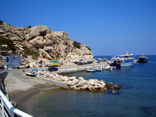 Skala Kameirou is the seaport of Kritinia, Rhodes, Greece