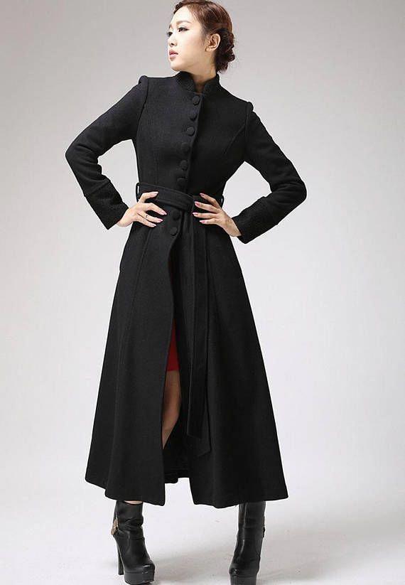 White girl girls black dress coats