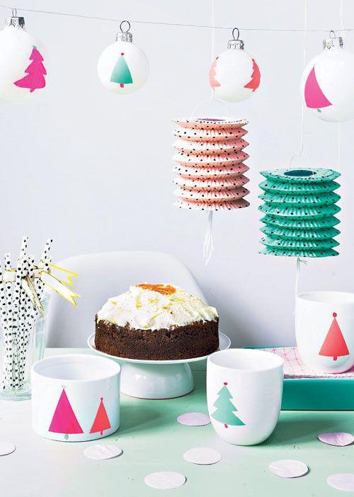 Kerstservies / tableware Kijk op www.101woonideeen.nl #tutorial #howto #holidayseason #christmas #DIY #decoration #xmas