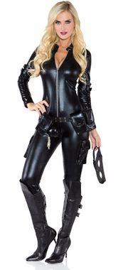 Women's Sexy Thief Black Catsuit Costume