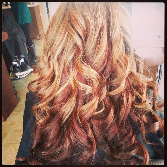 18 best hair styles colors images on pinterest accessories multi colored highlights pmusecretfo Gallery