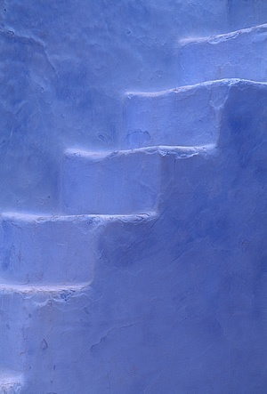 Chefchaouen, Morocco periwinkle stairs