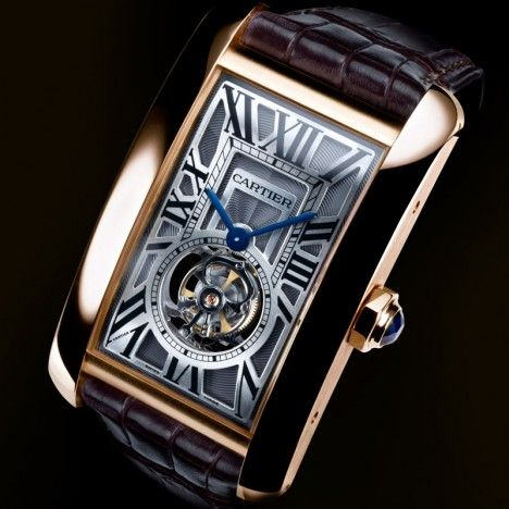 Cartier Tank Americaine Tourbillon Volant presented at SIHH 2009