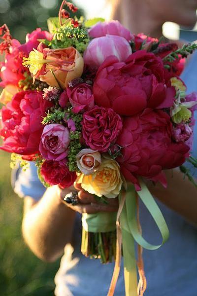Love colorful bouquets!