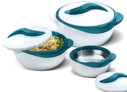 Product Details: 3 Dish Sizes: *2.6 qt. *1.5 qt. *1 qt. Inner stainless steel construction & polyurethane insulation Locking lids Holds temperature up to 4-6-Hours Flexibility Between your errands and the kids' school and extracurricular activities, making dinner is hard enough –... more details available at https://perfect-gifts.bestselleroutlets.com/gifts-for-holidays/home-kitchen/product-review-for-pinnacle-3-piece-thermo-dish-hot-or-cold-casserole-serving-b