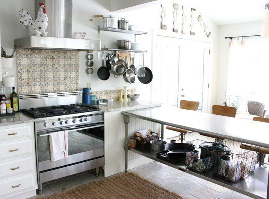 Inspired By: Stainless Steel Kitchen Islands — Kitchen Inspiration