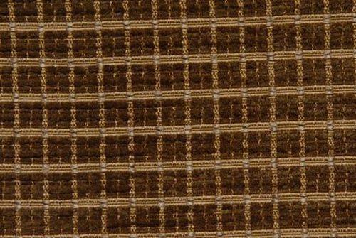 Brown Check / Plaid Dobby Weave Lodge Decorative Fabric