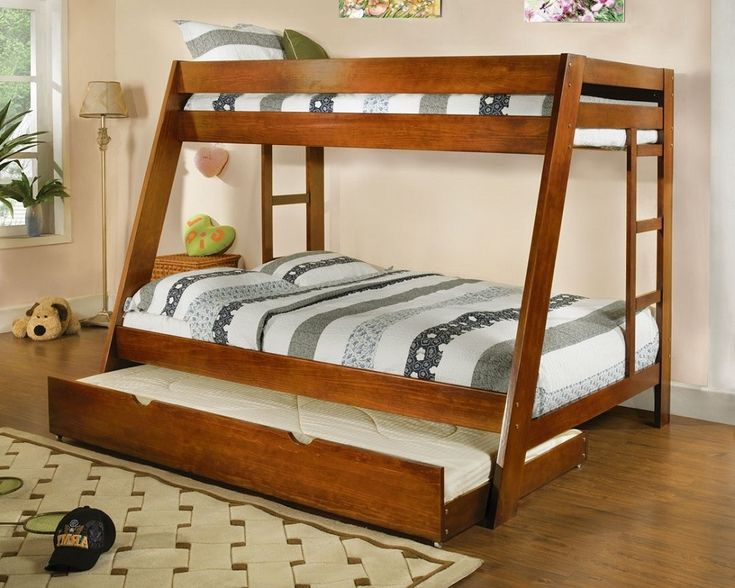 70+ solid Wood Bunk Bed with Trundle - Mens Bedroom Interior Design Check more at http://imagepoop.com/solid-wood-bunk-bed-with-trundle/