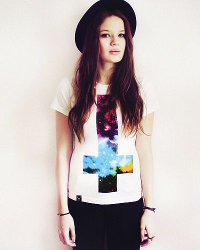 #DIY upside down cross galaxy tee