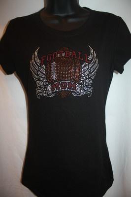 Football Mom bling shirt