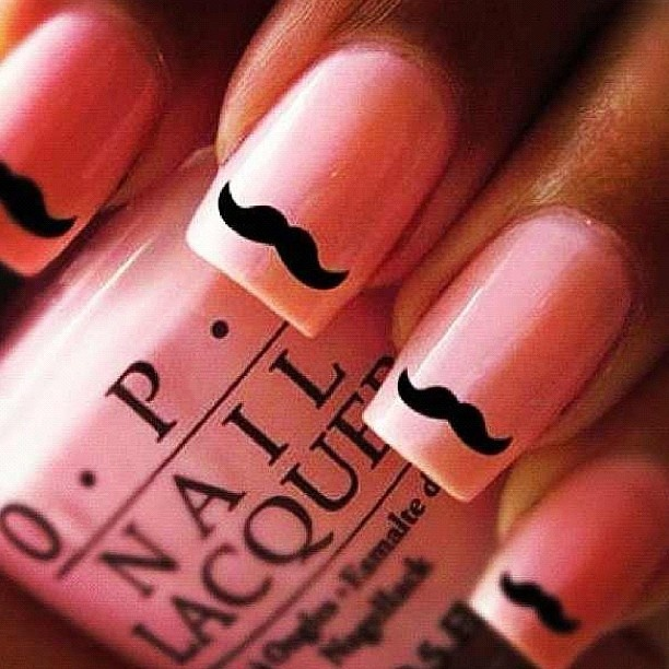 16 best nerd nails images on pinterest nail art ideas nail classic mustache nails for ballers who love mustaches prinsesfo Image collections