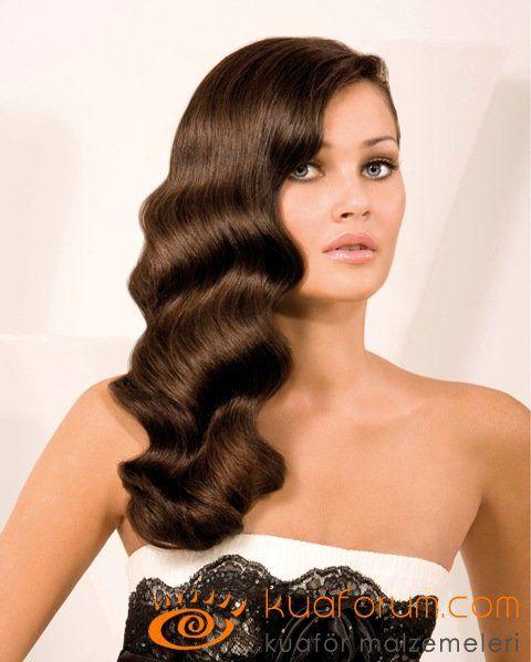 Wag - Vaklı Saç, Vak Dalgalı 2014-2015 Saç Modelleri, Vintage Hairstyle-Retro Hairstyle- Wag Maşası