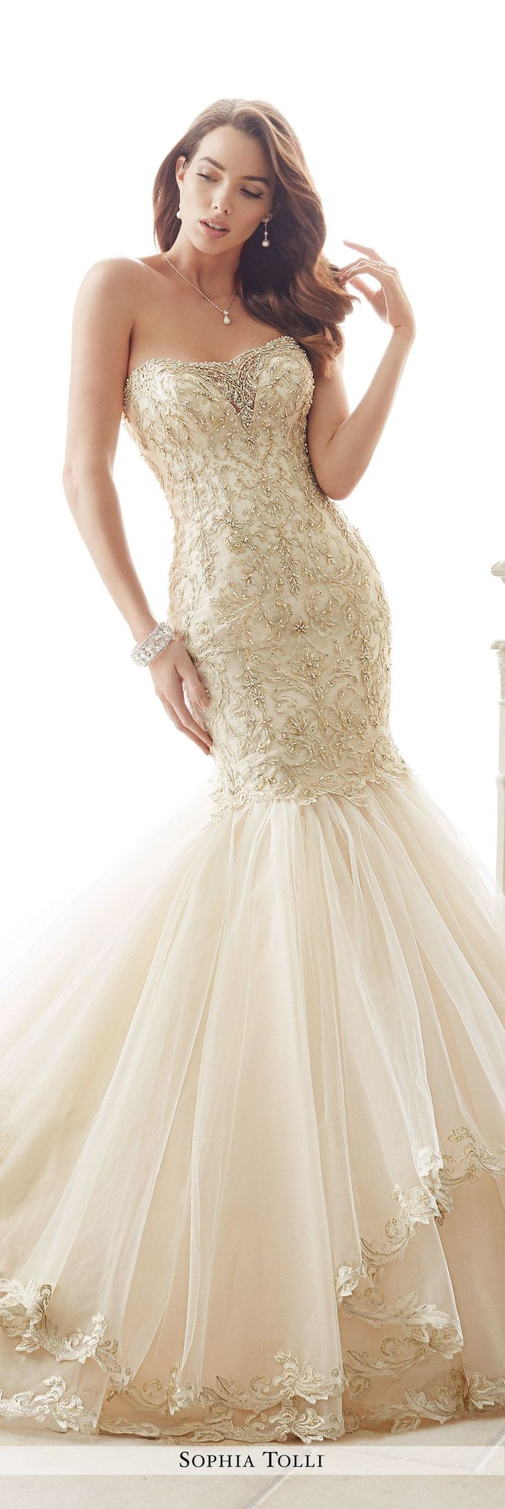 25 cute trumpet wedding gowns ideas on pinterest lace trumpet sophia tolli fall 2016 wedding gown collection style no y21657 amalfi strapless lace junglespirit Images