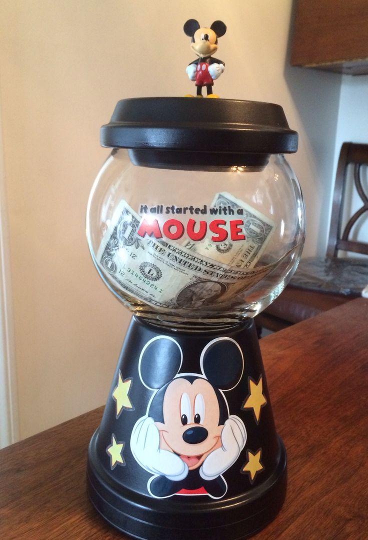 Mickey Mouse Savings jar I made :):):)