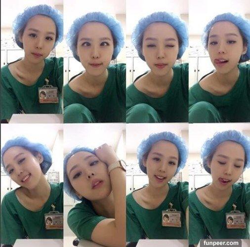 Nữ y tá xinh đẹp gây sốt mạng với 50 sắc thái