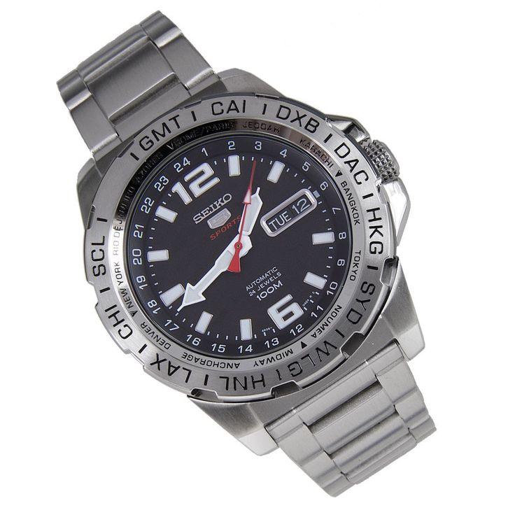 Seiko SRP683K1 Automatic 24 Jewels Mens Sports Watch ...